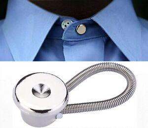 Shirt Collar Extender x 3 Button Neck Expander Mens Waist Band Metal Clothing UK