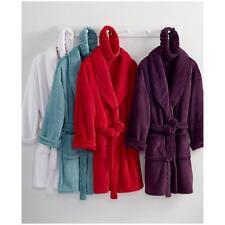 Martha Stewart Gift Boxed Plush Bath Robe With Matching Headband RED G5055