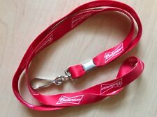 6 NEW Budweiser Beer Logo Key Chain Lanyard Red and White Souvenir