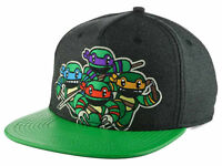 Teenage Mutant Ninja Turtles Attack Animigos Cartoon Green TMNT Snapback Hat Cap