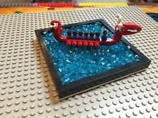 LEGO CUSTOM Dragon Boat with blue jewels as water 5 in x 5 in x 3/4""