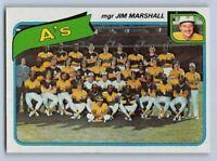 "1980  OAKLAND ATHLETICS (A's)  - Topps ""TEAM CHECKLIST"" Baseball Card # 96"