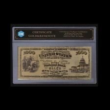 Gold Banknote Collectible 1875 Year 1000 Usd Commemorative Note Paper Money