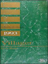 1993 Mercury Villager Shop Manual 93 GS LS Original Repair Service Book OEM