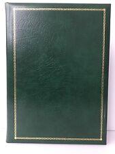 NUOVO senza etichetta Smythson mozzafiato tradizionali/vintage verdi in pelle/Oro Intarsio Cartella/Pad