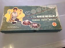 VTG No. 2 Griswold 2 Piece Cast Iron Patty Mold Set, Excellent Possibly Unused
