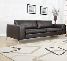 Sofa 3er Couch Wohnlandschaft Garnitur Lounge Wohnzimmer Kunstleder Dunkelbraun