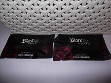 Women's Paco Rabanne Black XS L'Exces 2 x 1.2 ml Eau De Parfum Sprays. Sealed