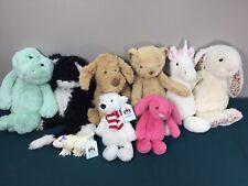 LOT of 9 Jellycat Plush Toy Cat Dog Bear Bunny Unicorn Frog Bean bag Polar Teddy