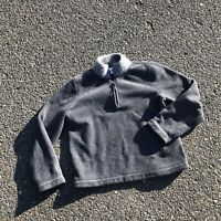 J. CREW Large Mens Supersoft WOOL Collar Zip Sweater Grey Very Warm And Tasteful