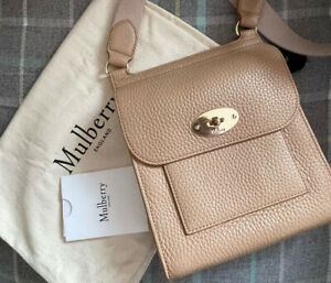 Mulberry Beige/Camel/Light Salmon Small Antony Messenger Bag Satchel Anthony