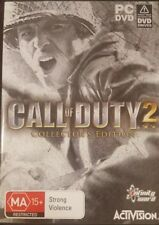 CALL OF DUTY 2 COLLECTOR'S EDITION PC GAME DVDROM DVD-ROM RARE MILITARY STRATEGY
