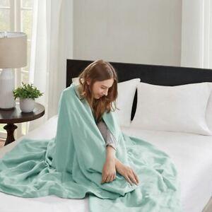 Luxury Seafoam Green Year Round High Quality Liquid Cotton Blanket - ALL SIZES