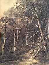 Fusain sous bois signé G Miriel daté de 1887 débute au Salon de Paris en 1876