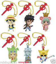BANDAI One Piece Anime Log Memories JET Phone Strap Figure set of 6 Luffy Law