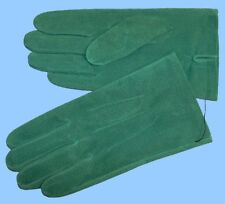 NEW MENS size 8.5 or Medium GREEN PIG SUEDE LEATHER UNLINED GLOVES shade10511