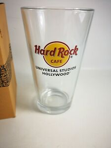 New Hard Rock Cafe Hollywood Pint Beer Glass With Original Box
