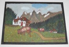 Kühe Alm Friedrich Mänz Naive Malerei Geschenk von Eduard Odenthal Köln Nippes