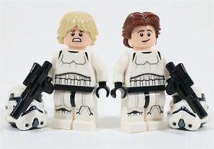 LEGO STAR WARS STORMTROOPER LUKE & HAN MINIFIGURES - MADE OF GENUINE LEGO PARTS
