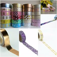 Gold Silver,Pink, Foil Washi Tape Pineapples Arrows Stars Stripes -Cute Gorgeous
