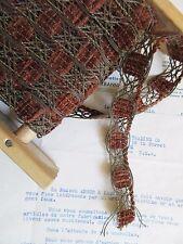 "Vintage French Dark Gold Metallic/Brown Chenille Trim 13/16"" Lampshade Pillow"