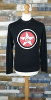 Quiksilver Mens Black Long Sleeved Logo Top Size S