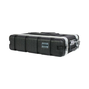 """19"""" 2U Short ABS Flight Case, Removable front and Rear Covers"""