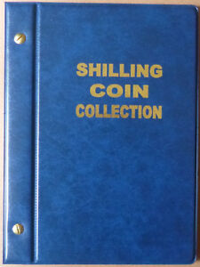 VST AUSTRALIAN 1/- COIN ALBUM SHILLING 1910 to 1963 with MINTAGES - BLUE Colour