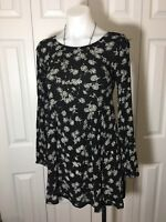 """New With No Tags Small """"FOREVER 21"""" Women's  Black Over-The-Knee Dress"""
