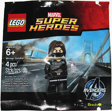 2015 LEGO Marvel #5002943 Winter Soldier Promo Minifigure New Sealed Polybag