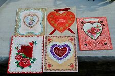 11 Large Vintage 1950's GIBSON Valentine's Day CARDS Puffy heart Glitter UNUSED