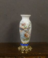 CHINA  PORCELAIN  VASE  ON  STAND  ~ Dollhouse ~ England ~ Marked ~ 1:12 scale