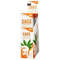 ZAGZ Tropic Trip Hemp Wrap Rolling Paper Full Box 25 Pouches / 2 Per Pack