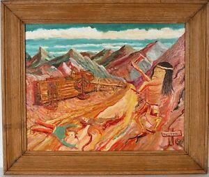 Martin Dean Coppinger  Geronimoe  Signed Oil on canvas framed SW ARTIST