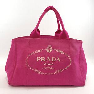 PRADA Tote Bag Canapa canvas Women