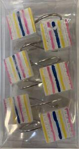 Fancy Shower Curtain Hooks - Multicolor - 12 pcs