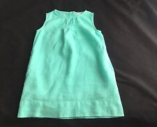 J CREW CREWCUTS Green Linen DRESS Sz 6 Beautiful Green With Pockets