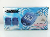 Portable Radio/CD Player NEW Crown CD90A With External Speakers Sealed Vintage