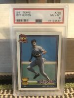 1991 Topps Jeff Huson - All-Star Rookie Cup - Texas Rangers - PSA 8