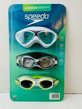 Speedo Swimming Goggles Junior Ages 6-14 UV Protection 3-pack