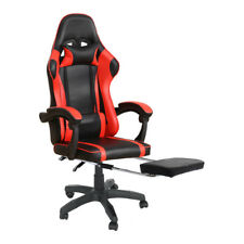 New ListingErgonomic Adjustable Computer Gaming Chair with Footrest Lumbar Massage Support