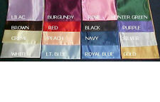 """QUEEN size Bridal Satin Conventional Sheet set -up to 15"""" drop -19 colors"""
