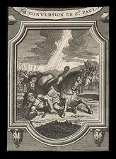 santino grabado 1700 LA CONVERSIÓN DE SAN PABLO AP