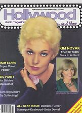 DEC 1986 HOLLYWOOD STUDIO vintage movie magazine KIM NOVAK - MGM