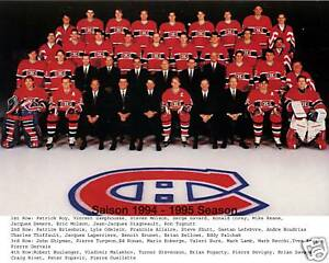 Montreal Canadiens 1994-95, 8x10 Color Team Photo