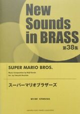 New Sounds in Brass NSB vol 38 Super Mario Brothers JAPANESE SHEET MUSIC BOOK