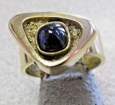 Ring size 8.5 Make Offer Modernism Modern 14K Synthetic Blue Sapphire