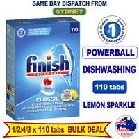 Finish Dishwasher Tablets Finish Powerball Classic Dishwashing 110pk x 1/2/3/4/8