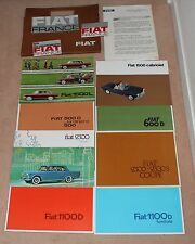 (36A)  RARE DOSSIER PRESSE FIAT 1963 SALON AUTO PARIS (500-2300-1600-1500 etc)