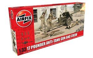 Airfix A06361  17 Pounder Anti-Tank Gun & Crew 1:32 Scale Plastic Kit T48 Post